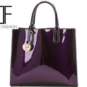 Sac à main Luxe Cuir vernis – Violet