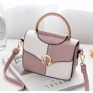 """21 Club"" Sac à main – Blanc/Rose"