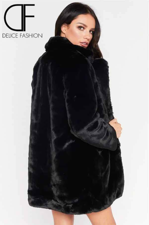 City Winter Faux Fur – Noir
