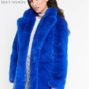 City Winter Faux Fur – Bleu Marine