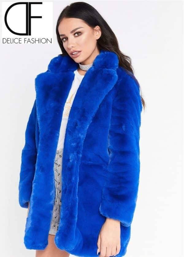 City Winter Faux Fur – Bleu Marine