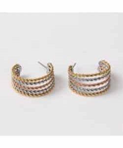 Boucles d'oreilles D11 – Or/Argent
