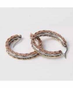 Boucles d'oreilles D10 – Or/Argent