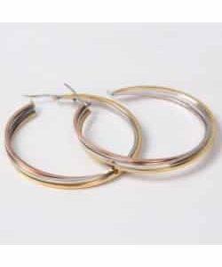 Boucles d'oreilles D3 – Or/Argent