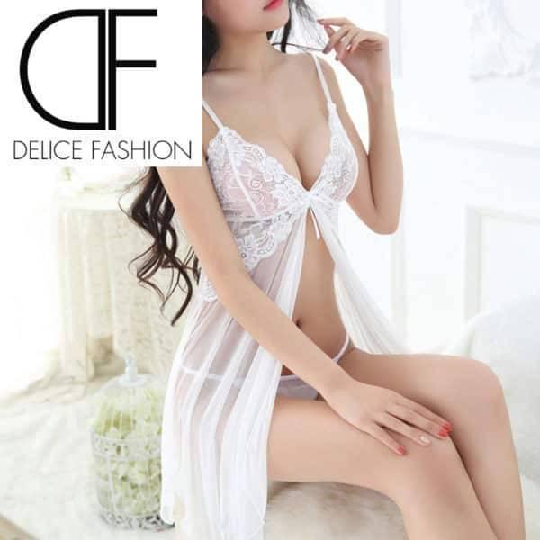 Sexy Nighty – Blanc – Tailles S / L / XL