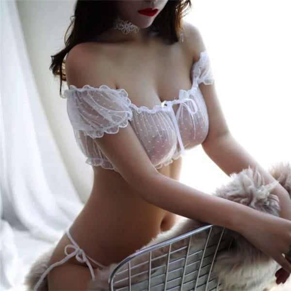 Ensemble Sexy Transparent sous-vêtements femmes intimes érotique dentelle Lingerie