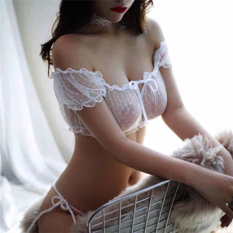 Ensemble Sexy Transparent sous-vêtements femmes intimes érotique dentelle Lingerie 6