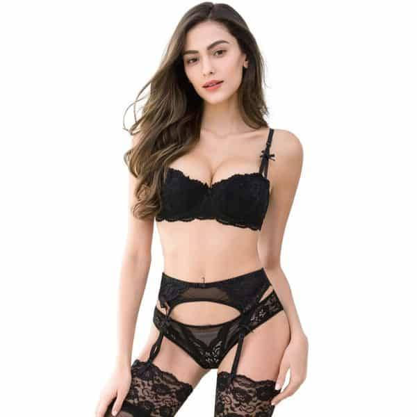 Ensemble sexy dentelle push up