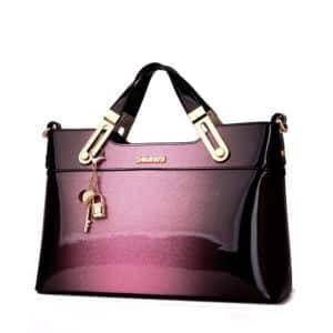 Sac luxe sacs à main en cuir à bandoulière design haute qualité en cuir verni