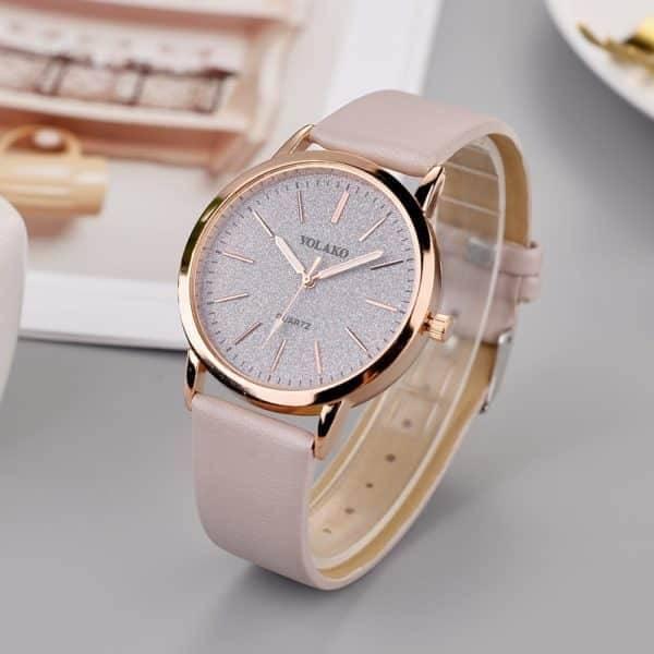 Montre étoile femmes Quartz bracelet en cuir