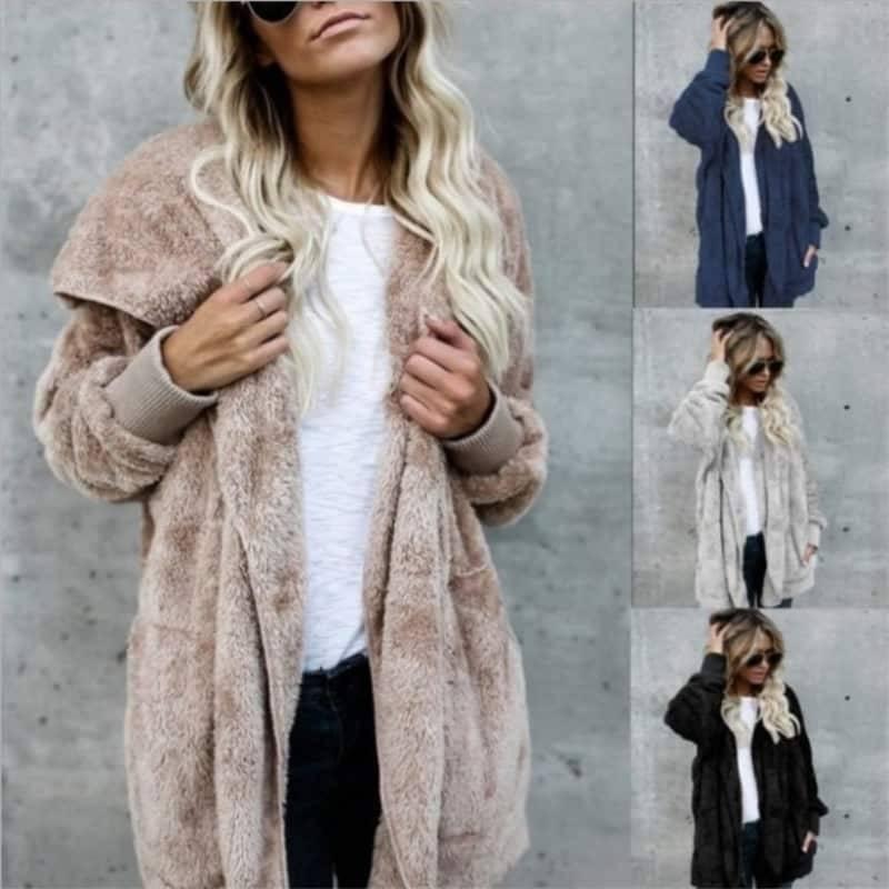 Manteau fourrure à capuche 3