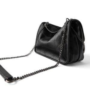 Women's Shoulder Bag in Beige and Black 10