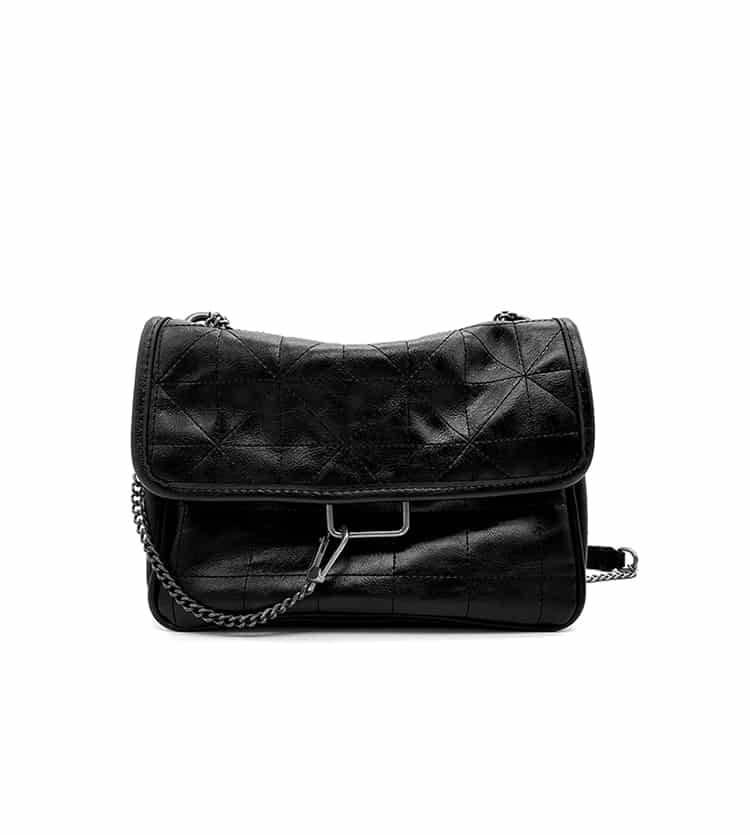 Women's Shoulder Bag in Beige and Black 3