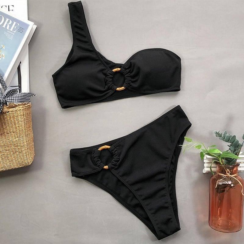 Bikini asymétrique épaule dénudée 2