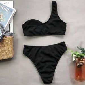 Bikini asymétrique épaule dénudée 5