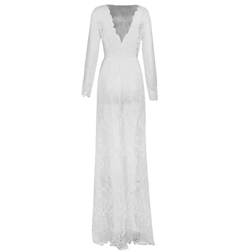 Robe de nuit en dentelle pour femmes Sexy transparente 4