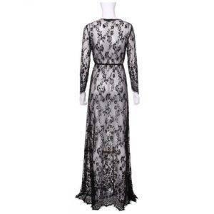Robe de nuit en dentelle pour femmes Sexy transparente 7