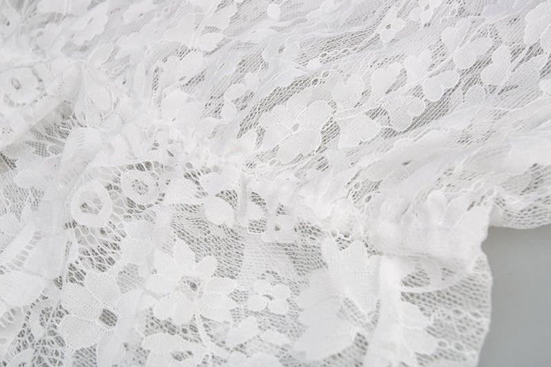 Robe de nuit en dentelle pour femmes Sexy transparente 5
