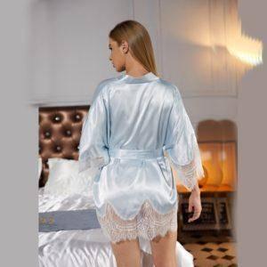 Nuisette en dentelle Satin nuit sexy 13