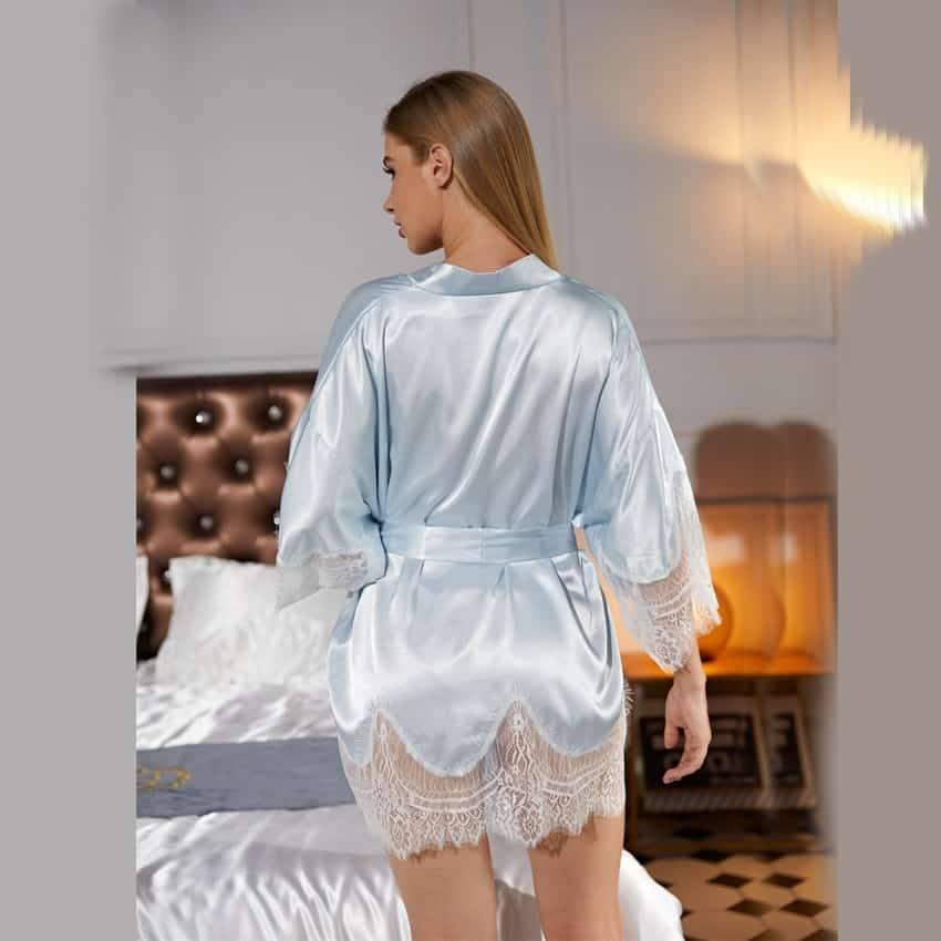 Nuisette en dentelle Satin nuit sexy 8